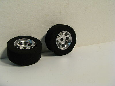 Hr1104 Nascar Front Silver Narrow Wheel With Foam Tire(2)
