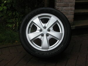 4 - Genuine Chevrolet Alloy Rims and Tires (Mint)