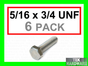 Stainless-Steel-UNF-Hex-Head-Bolts-5-16-x-3-4-6Pk