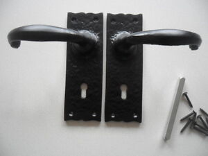 black antique style cast iron tudor lock handles heavy duty indoor outdoor new
