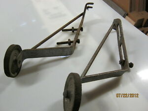 Antique bicycle training wheels (Reduced)