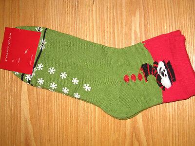 Charter Club Holiday Novelty snowman Slipper Socks