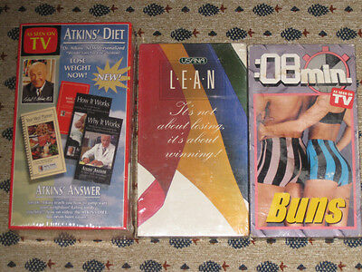 Lot Of 3 / Atkins Diet Weight Loss For Life System, 8 Min. Buns, Usana Lean