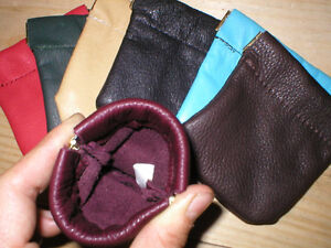 LEATHER-Squeeze-Facile-Frame-COIN-CHANGE-Pouch-Purse-Wallet-Handmade-your-color