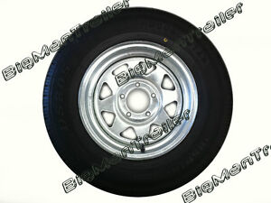 Galvanised-Sunraysia-Rim-and-Tyre-14-Ford-Wheel-Trailer-Part-Caravan-Boat