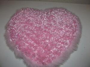 PINK HEART SHAPED PILLOW