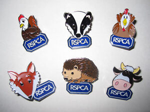 RSPCA-CHARITY-pin-badges-6-Animals-Paws-to-Support