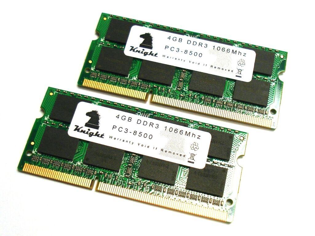 Knight 8gb Ddr3 1066 Mhz Pc3 8500 2x4gb Sodimm For Laptop