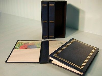 Photo Album 4 Book Set Navy Blue Holds 240 Photos Nice