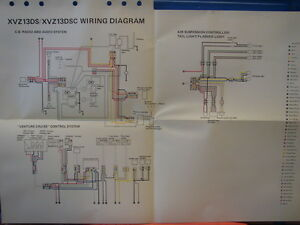 yamaha venture wiring diagram yamaha factory wiring diagram 1986 xvz13 da xvz13 dsc ... 2003 venture wiring diagram