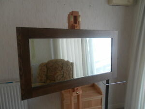 Yabbyou-Solid-Oak-Mirror-Walnut-Finish-115cm-by-60cm-with-Bevelled-Glass