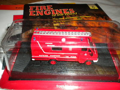 Del Prado World Fire Engines - France 1988 Renault B 90 Pse Boxed Issue 6