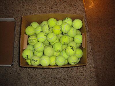 100 Used Tennis Balls Wilson  Penn  Etc   Fed Ex Shipping