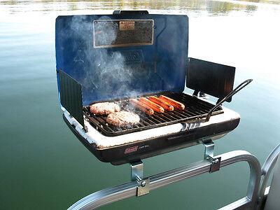 Arnall's Grill Bracket Set for Pontoon Boat-Brackets ONLY