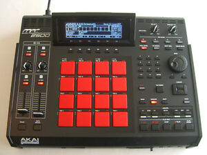 Akai-MPC-2500-Custom-Black-Red-Fully-Maxed-out