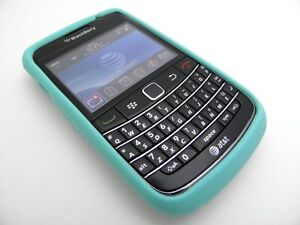 TURQUOISE SILICONE RUBBER SKIN COVER CASE FOR BLACKBERRY BOLD 9700 9780