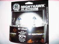 NEW IN BOX NIGHTHAWK PLATINUM H7 HEADLIGHT BULBS