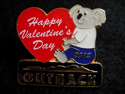 Outback Steakhouse Valentines Day 2012 hat lapel pin Koala