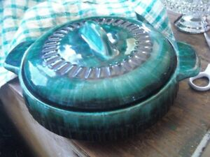 BLUE  MOUNTAIN  POTTERY GREEN SOUP TUREEN  new price