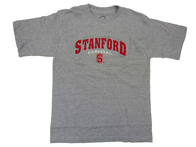 Stanford Cardinal Adult Grey Mascot Embroidered T Shirt New