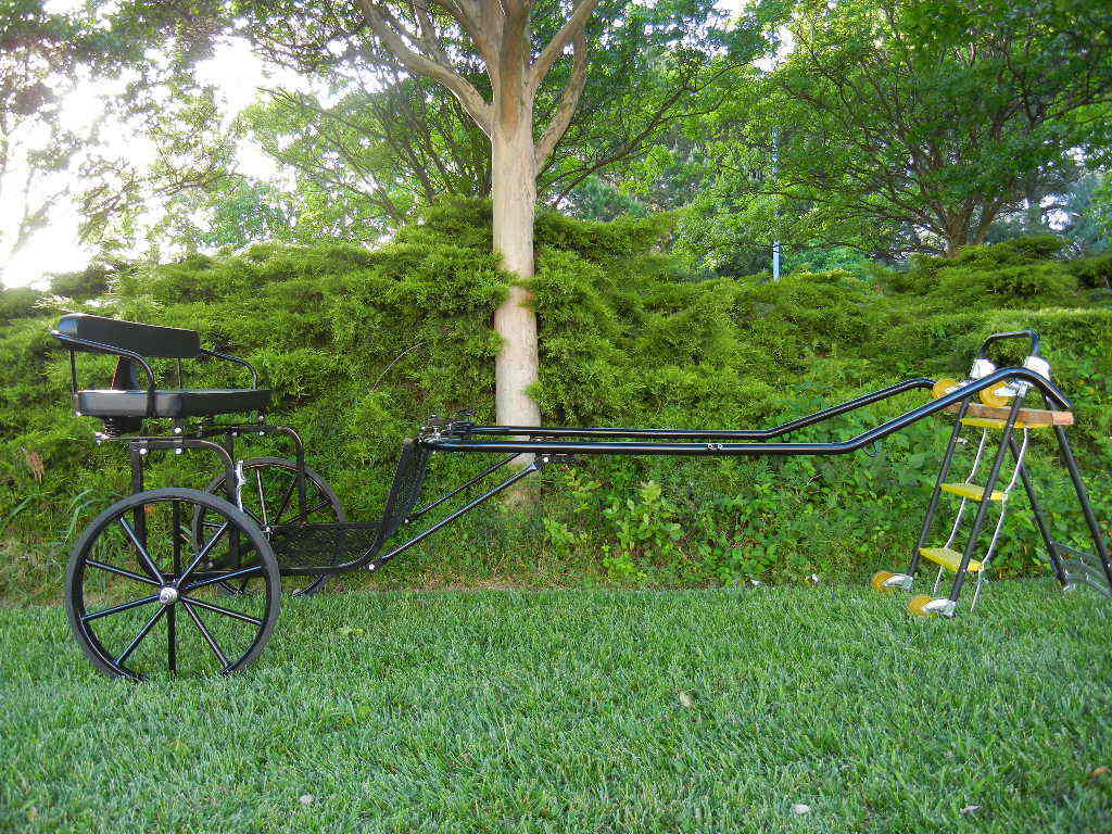Ez Entry Pony/cob Cart W/60-72 Curved Shafts W/27 Solid Rubber Tires