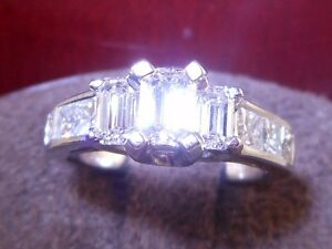 ZALES-CERTIFIED-1-51-Emerald-Cut-Diamond-18K-Engagement-Ring-RECEIPT-WARRANTY