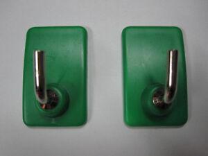 Set 2 ganci con biadesivo appendini appendino bagno cucina gancio adesivo verde ebay - Appendini bagno ...