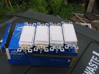 Leviton Decora white 3-way rocker light switches