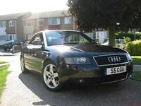 AUDI A4 CONVERTIBLE, LIMITED EDITION, SPORT, LOW MILEAGE, RED LATHER SEATS