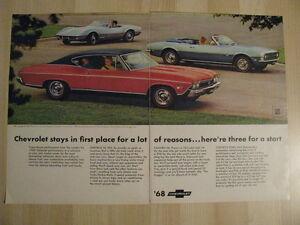 1968 Chevrolet Car Line Up Original Ad.