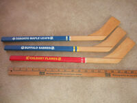 Miniature NHL Hockey Sticks (in Welland)