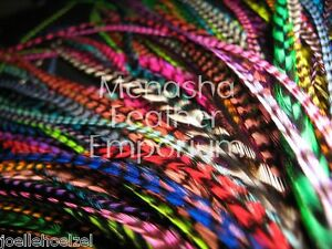 50XL-BRIGHT-COLORS-MIX-GRIZZLY-100-WHITING-Saddle-Feather-hair-extensions-gr
