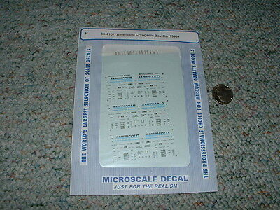 Microscale Decals N 60 4107 Americold Cryogenic Box Car 1993  A79