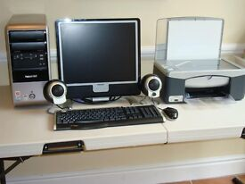 Philips Computer Monitor Packard Bell harddrive and HP printer n scanner duo
