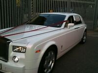 Rolls Royce Phantom Ghost Wedding & Prom Chauffeur Car Hire. Range Rover & Bentley also availabe