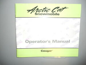 Arctic-Cat-Owners-Manual-1996-Cougar-Snowmobile