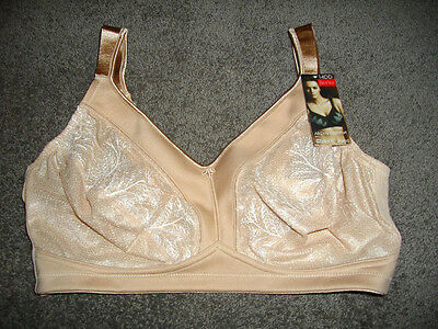 Myer-berlei: Curves: Size: 14 D: All Day Support Comfy Wirefree Beige Bra