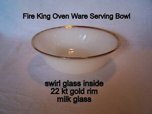 Vintage, Fire-King Oven Ware, serving bowl, like new $44 each