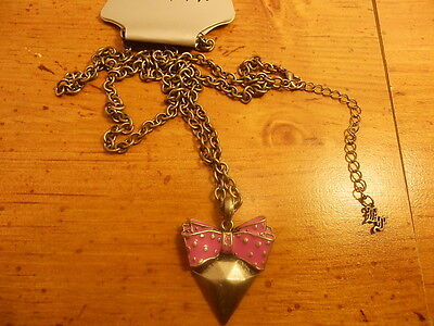 Metal Shape Necklace Pink Bow Tie Necklace From Hot Topic
