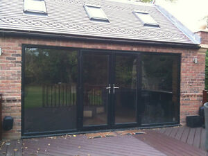 Upvc pvc black grey or cream french doors window made to for Upvc french doors made to measure