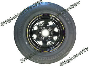 14-Holden-HQ-Black-Sunraysia-Rim-and-Tyre-Wheel-Trailer-Part-Caravan-Boat-LT