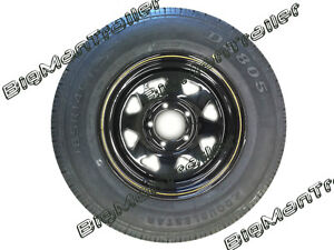 Black-Sunraysia-Rim-and-Tyre-14-Ford-Wheel-Trailer-Part-Caravan-Boat