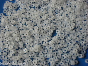2-5mm-WHITE-NYLON-PLASTIC-FULL-NUTS-FOR-M2-5-SCREWS-AND-BOLTS-NEW-PACK-OF-20