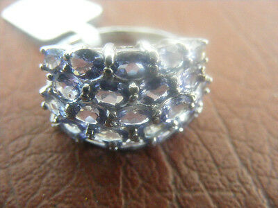 Nyc Ii Chuck Clemency Tanzanite Silver W/platinum Ring Size 5.5