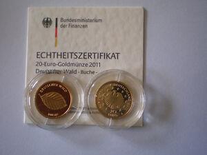 BRD-20-Euro-Gold-2011-A-Buche-mit-Echtheitszertifikat-in-Originalkapsel