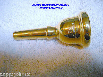 King 28 H N White Equa-Tru  Trombone - Baritone Mouthpiece NEW GOLD PLATING