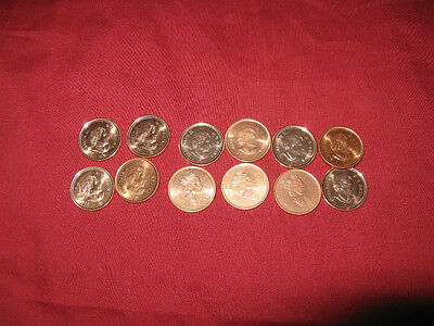SET OF 12 CANADA BU RED BLAZING PENNIES 2000_2011 on Rummage