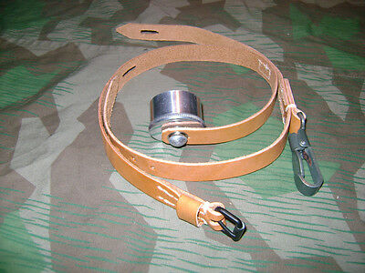 German WW2 Brown 1 Liter Canteen Strap Complete