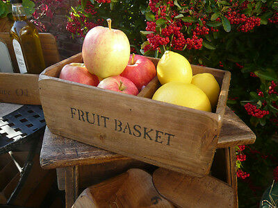 (NEW) Farmhouse Fruit Basket  /bowl / box / kitchen storage ~ old rustic style