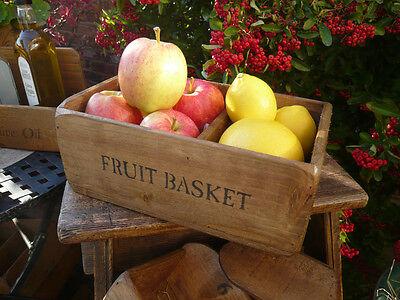 (NEW) Farmhouse Fruit Basket  /bowl / box / kitchen storage ~ old rustic style